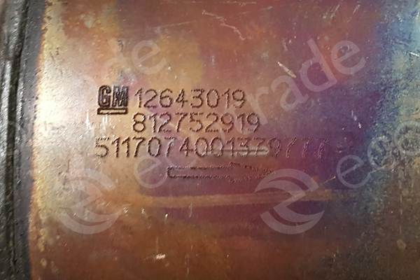 General Motors-12643019Catalytic Converters