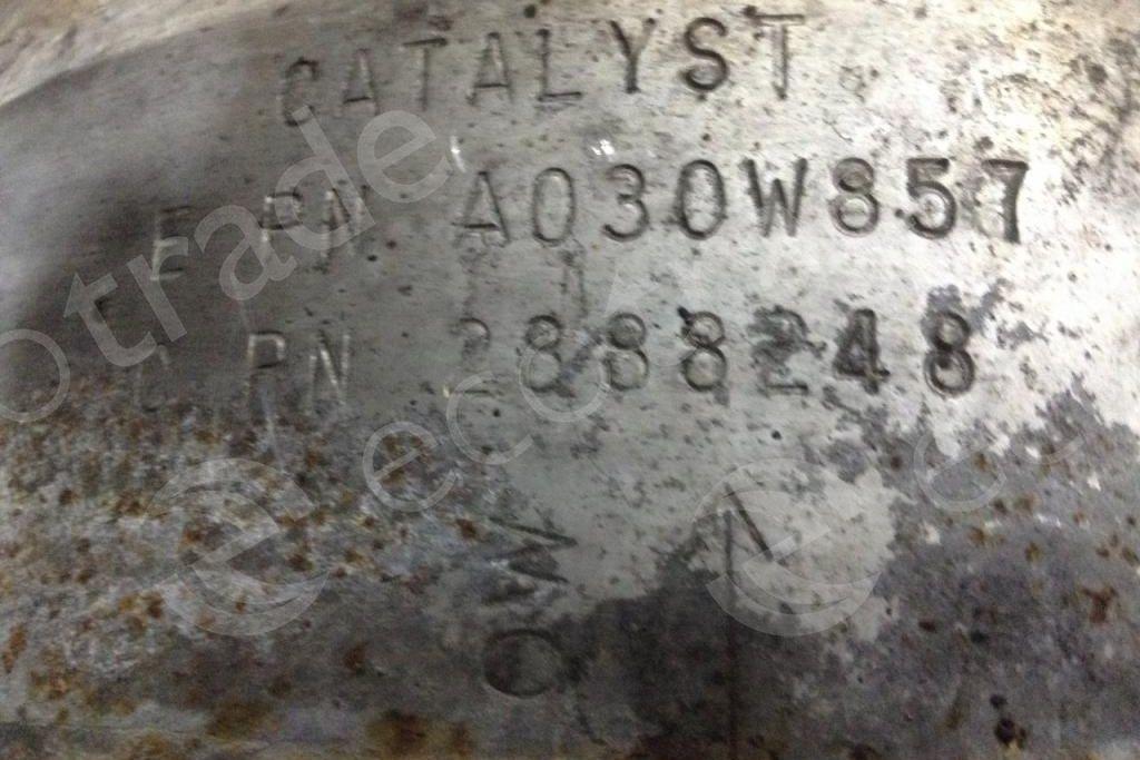 KenworthCumminsEPN A030W857 CPN 2888248Catalytic Converters