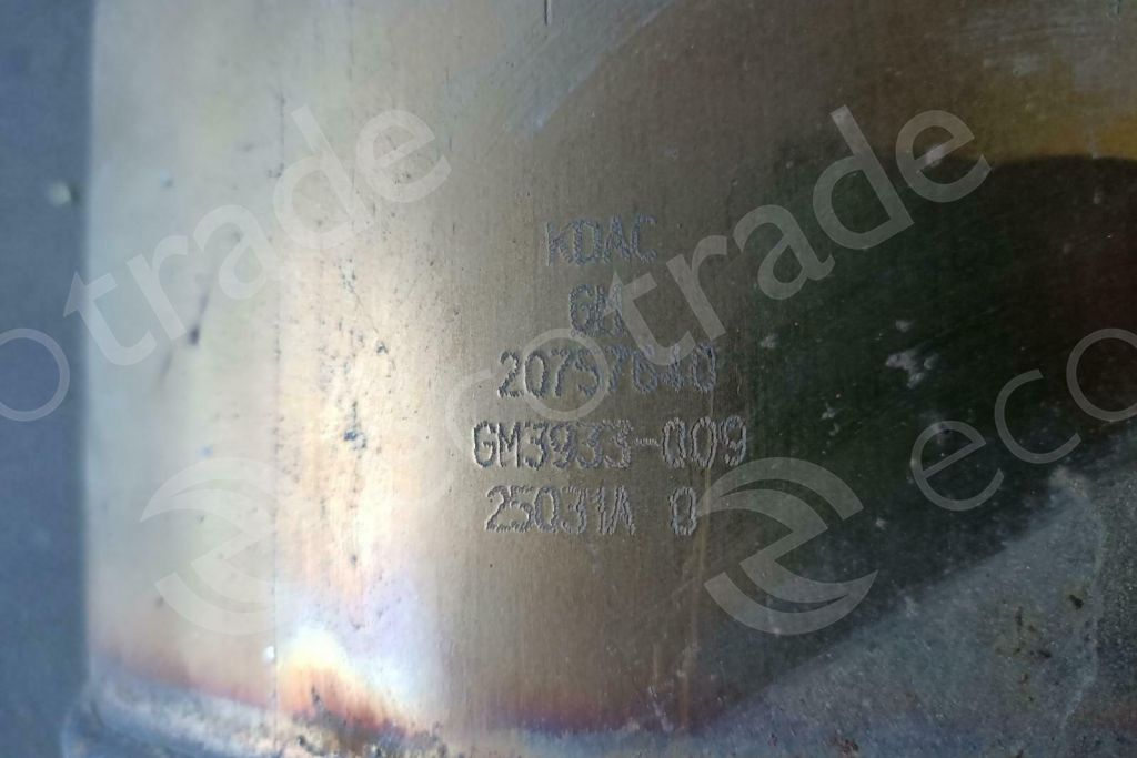 General Motors-20757640Catalytic Converters