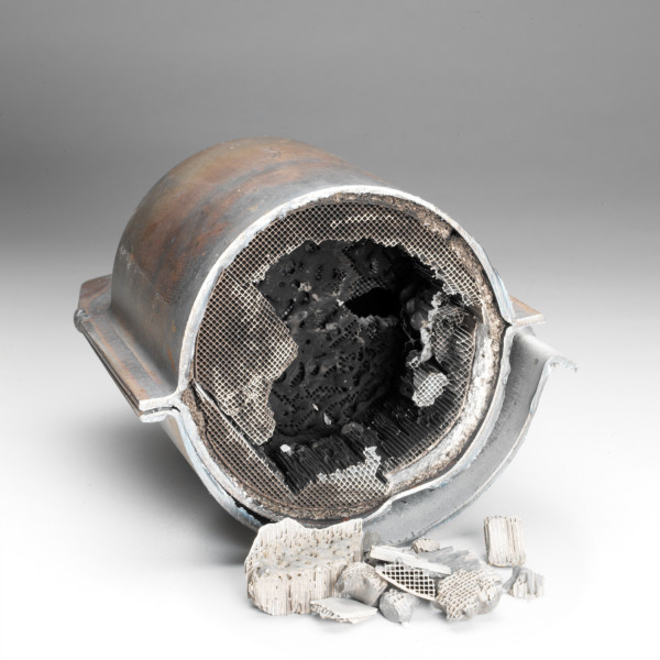 Damaged catalytic converter